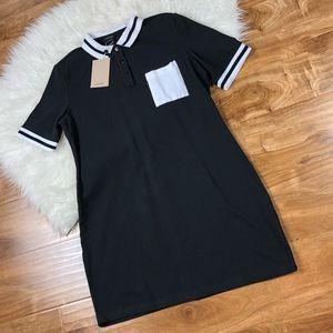 Monki ASOS Color Block Polo Mini Dress